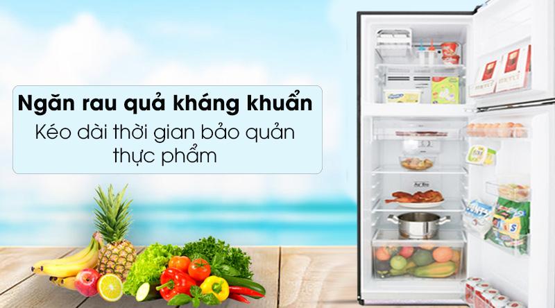 Tủ lạnh Toshiba Inverter 555 lít GR-AG58VA GG - kéo dài thời gian bảo quản thực phẩm nhờ ngăn rau quả kháng khuẩn