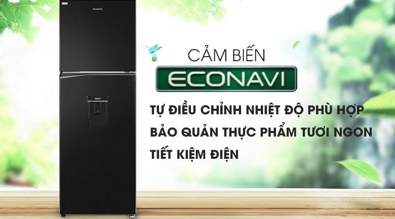 Cảm biến Econavi - Tủ lạnh Panasonic Inverter 326 lít NR-BL351WKVN