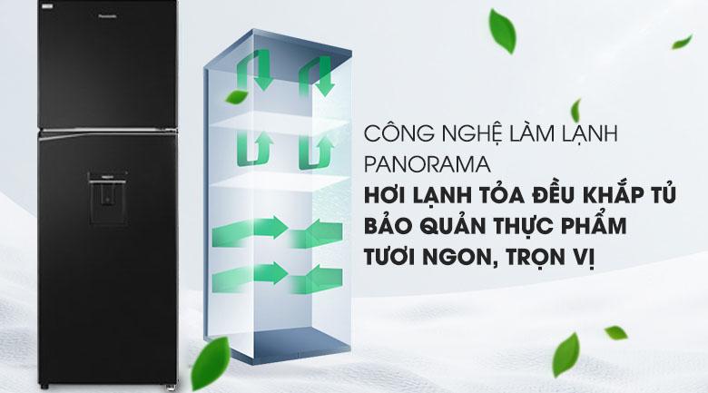 Công nghệ Panorama - Tủ lạnh Panasonic Inverter 326 lít NR-BL351WKVN
