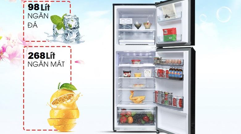 Dung tích 366 lít - Tủ lạnh Panasonic Inverter 366 lít NR-BL381WKVN