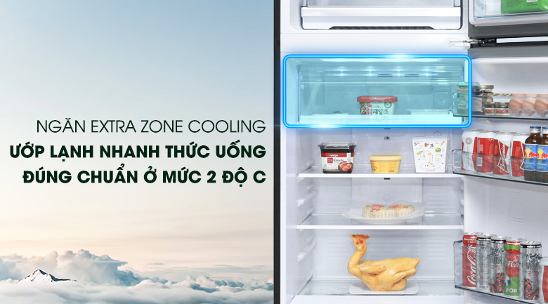 Ngăn Extra Cool Zone - Tủ lạnh Panasonic Inverter 366 lít NR-BL381WKVN