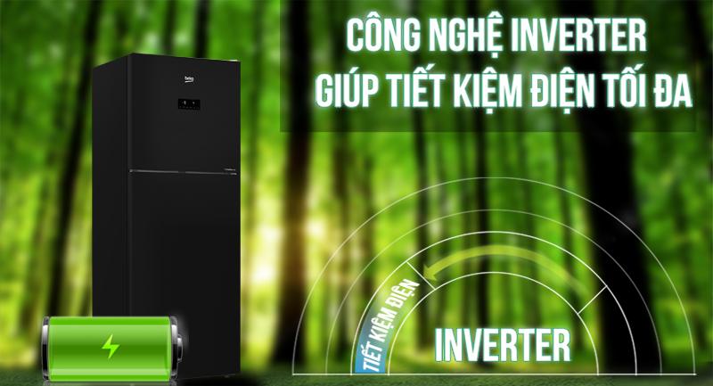 Tủ lạnh Beko Inverter 392 lít RDNT440E50VZGB -Tiết kiệm điện với công nghệ Inverter