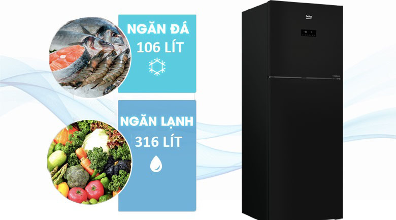 Tủ lạnh Beko Inverter 420 lít RDNT470E50VZJGB