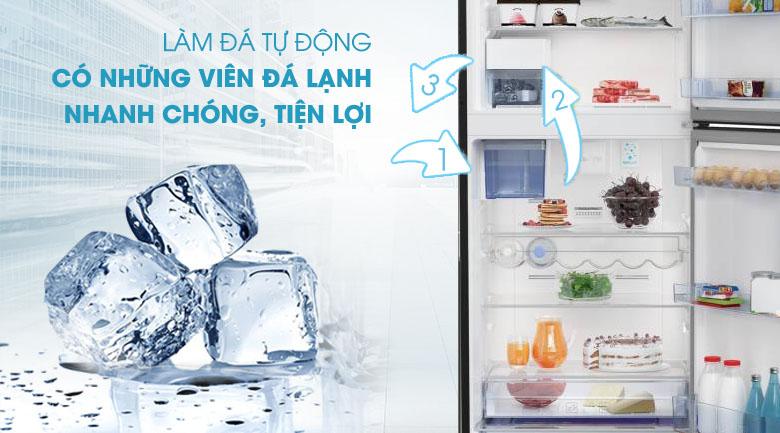Làm đá tự động - Tủ lạnh Beko Inverter 420 lít RDNT470E50VZJGB