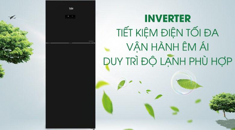 Công nghệ Inverter - Tủ lạnh Beko Inverter 420 lít RDNT470E50VZJGB