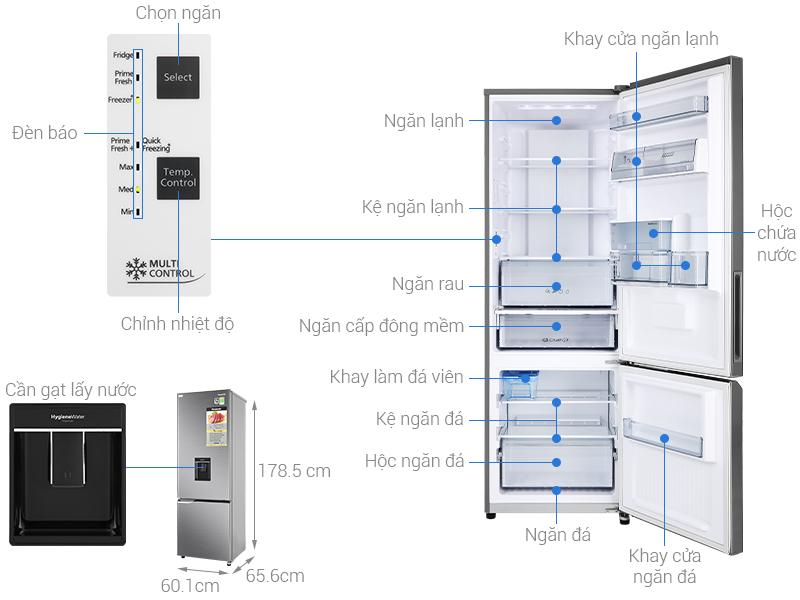 Thông số kỹ thuật Tủ lạnh Panasonic Inverter 322 lít NR-BV360WSVN