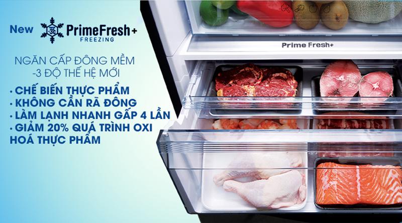 Tủ lạnh Panasonic Inverter 322 lít NR-BV360WSVN-Chế biến nhanh, giữ hương vị thực phẩm tươi ngon nhờ ngăn đông mềm thế hệ mới Prime Fresh+
