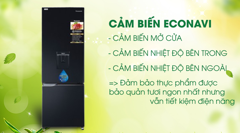 econavi-Tủ lạnh Panasonic Inverter 290 lít NR-BV320WKVN