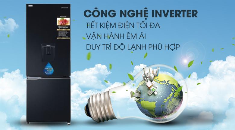 inverter-Tủ lạnh Panasonic Inverter 290 lít NR-BV320WKVN