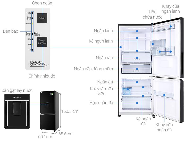 Thông số kỹ thuật Tủ lạnh Panasonic Inverter 255 lít NR-BV280WKVN