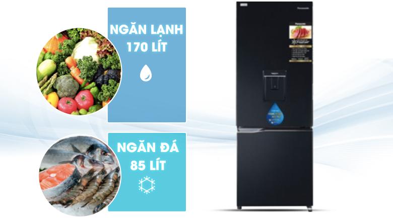 dung tích-Tủ lạnh Panasonic Inverter 255 lít NR-BV280WKVN