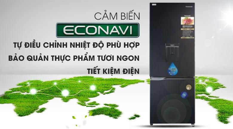 econavi-Tủ lạnh Panasonic Inverter 255 lít NR-BV280WKVN