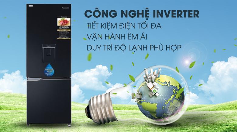 inverter-Tủ lạnh Panasonic Inverter 255 lít NR-BV280WKVN