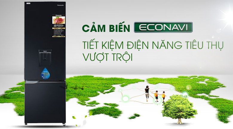 Econavi Tủ lạnh Panasonic Inverter 322 lít NR-BC360WKVN