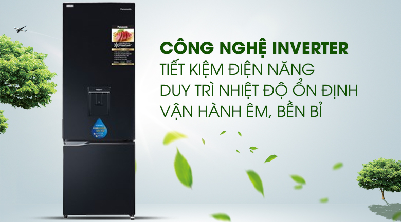 Inverter Tủ lạnh Panasonic Inverter 322 lít NR-BC360WKVN