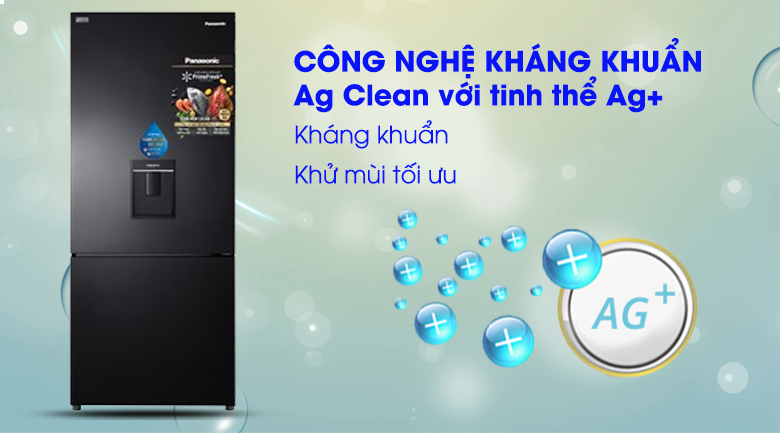 Ag Clean Tủ lạnh Panasonic Inverter 410 lít NR-BX460WKVN