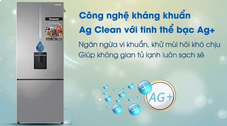 Ag Clean Tủ lạnh Panasonic Inverter 410 lít NR-BX460WSVN