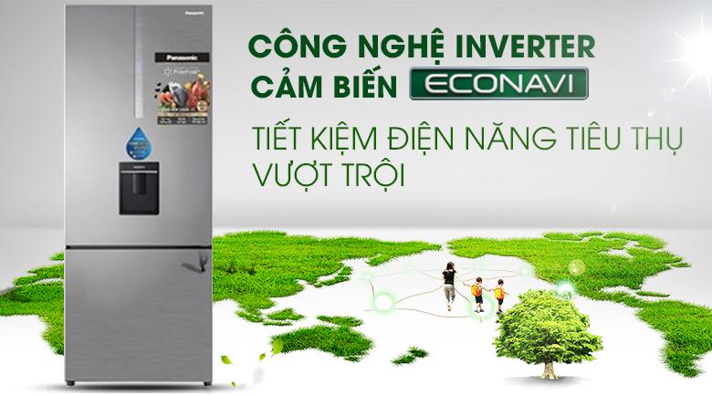 Inverter - Econavi Tủ lạnh Panasonic Inverter 410 lít NR-BX460WSVN