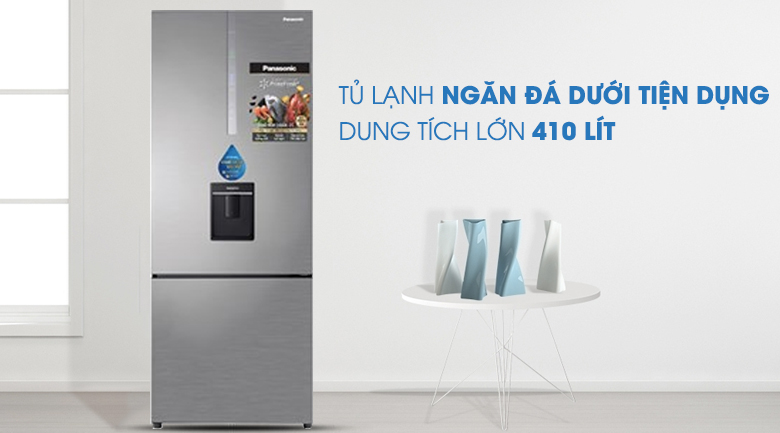 Thiết kế Tủ lạnh Panasonic Inverter 410 lít NR-BX460WSVN