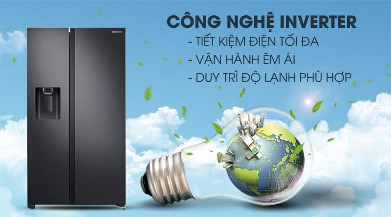 Tủ lạnh Samsung Inverter 617 lít RS64R5301B4/SV-Tiết kiệm điện hiệu quả, hoạt động êm với công nghệ Inverter