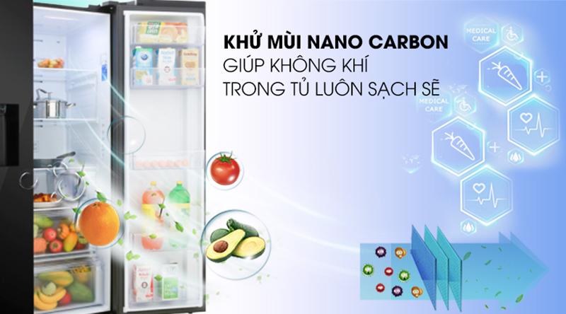Tủ lạnh Samsung Inverter 617 lít RS64R5301B4/SV-Loại bỏ mùi hôi, tạo luồng khí trong lành với bộ lọc than hoạt tính
