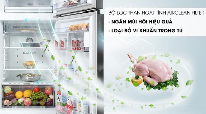 Tủ lạnh Beko Inverter 340 lít RDNT371E50VZK - Bộ lọc than hoạt tính Airclean Filter