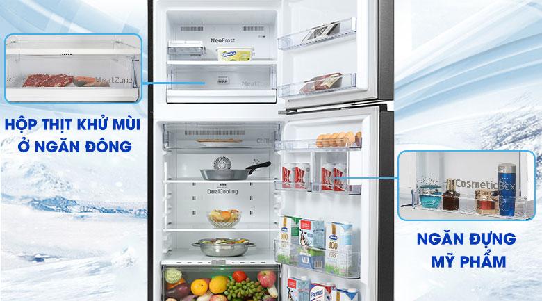 Tủ lạnh Beko Inverter 340 lít RDNT371E50VZK - Ngăn đựng mỹ phẩm