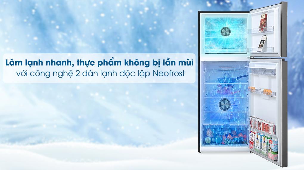 2 dàn lạnh độc lập - Tủ lạnh Beko Inverter 375 lít RDNT401E50VZDK Mới 2020