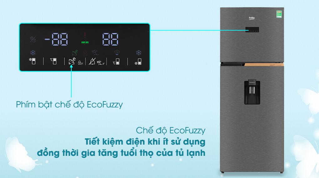 Eco fuzzy - Tủ lạnh Beko Inverter 375 lít RDNT401E50VZDK Mới 2020