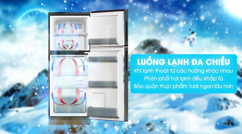 Khí lạnh đa chiều - Tủ lạnh Aqua Inverter 186 lít AQR-T219FA