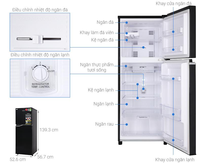 Thông số kỹ thuật Tủ lạnh Panasonic Inverter 188 lít NR-BA229PKVN