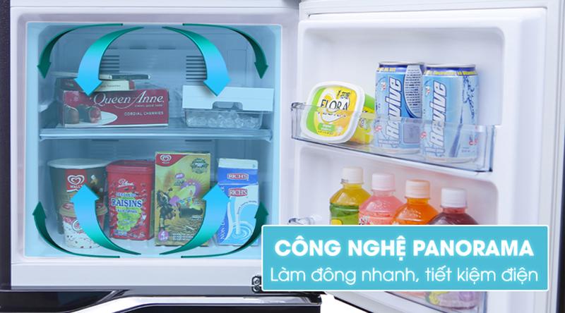 Tủ lạnh Panasonic Inverter 188 lít NR-BA229PKVN-Thổi hơi lạnh nhanh và đều khắp tủ nhờ công nghệ Panorama