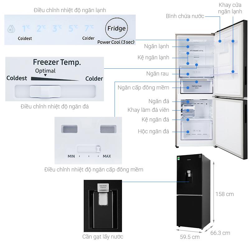 Thông số kỹ thuật Tủ lạnh Samsung Inverter 276 lít RB27N4170BU/SV