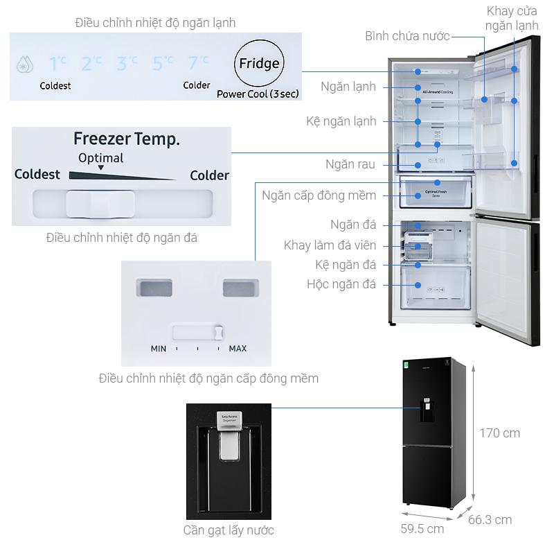 Thông số kỹ thuật Tủ lạnh Samsung Inverter 307 lít RB30N4170BU/SV
