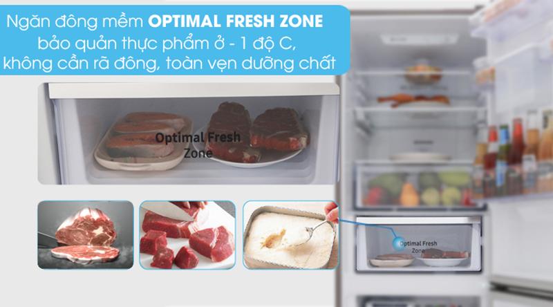 Tủ lạnh Samsung Inverter 307 lít RB30N4170BY/SV-Tiết kiệm thời gian chế biến nhờ ngăn đông mềm Optimal Fresh Zone -1 độ C