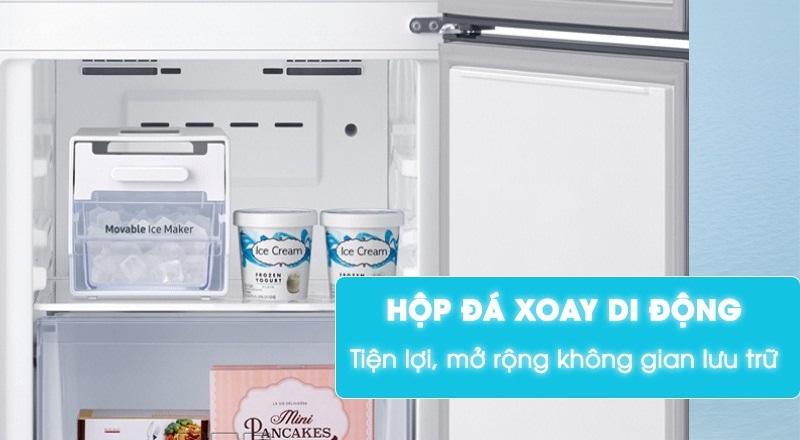 Tủ lạnh Samsung Inverter 307 lít RB30N4170BY/SV-Tiện lợi, mở rộng không gian lưu trữ với hộp đá xoay di động
