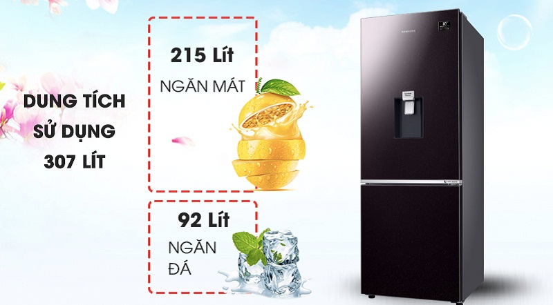 Tủ lạnh Samsung Inverter 307 lít RB30N4170BY/SV-Dung tích 307 lít, phù hợp với hộ gia đình từ 3 - 4 người