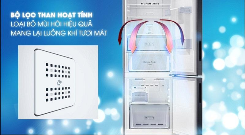 Tủ lạnh Samsung Inverter 307 lít RB30N4170BY/SV-Loại bỏ mùi hôi hiệu quả, mang lại luồng khí tươi mát cùng bộ lọc than hoạt tính