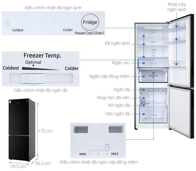 Thông số kỹ thuật Tủ lạnh Samsung Inverter 310 lít RB30N4010BU/SV