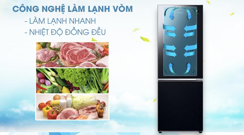 Làm lạnh vòm - Tủ lạnh Samsung Inverter 310 lít RB30N4010BU/SV