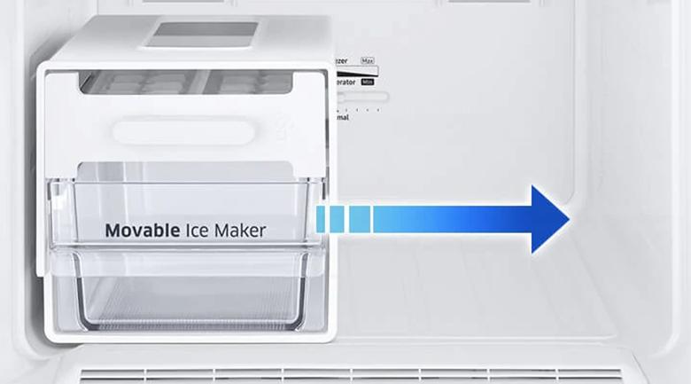 Hộp đá xoay di động - Tủ lạnh Samsung Inverter 310 lít RB30N4010BU/SV