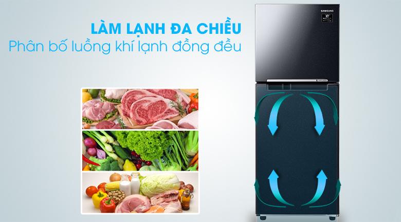 Làm lạnh đa chiều -Tủ lạnh Samsung Inverter 208 lít RT20HAR8DBU/SV
