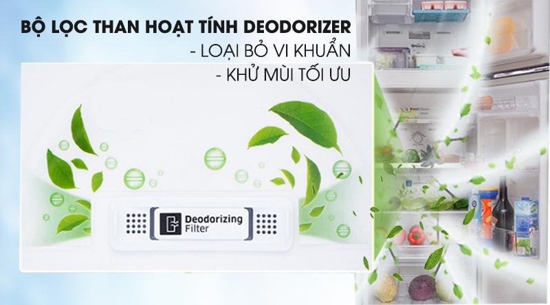 Tủ lạnh Samsung Inverter 236 lít RT22M4032BU/SV-Loại bỏ vi khuẩn, khử mùi tối ưu cùng bộ lọc than hoạt tính Deodorizer