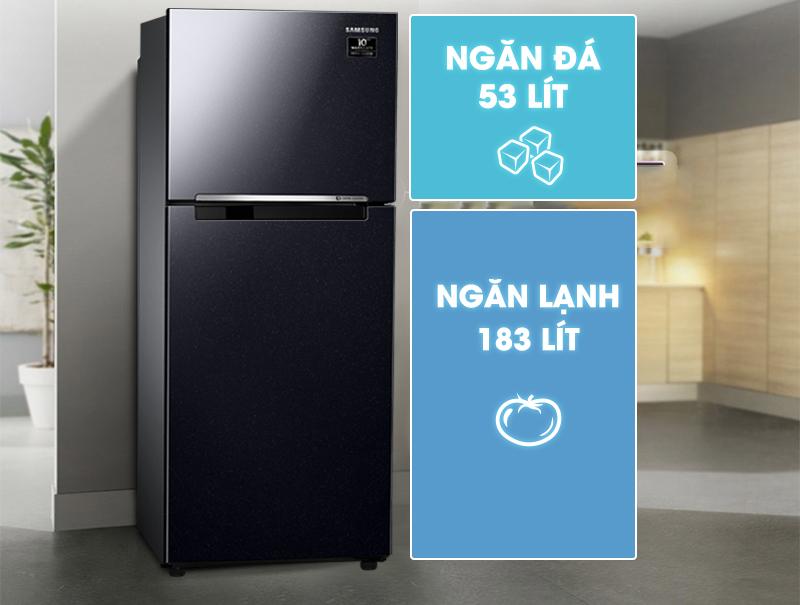 Tủ lạnh Samsung Inverter 236 lít RT22M4032BU/SV-Dung tích 236 lít, phù hợp gia đình nhỏ (2 - 3 thành viên)