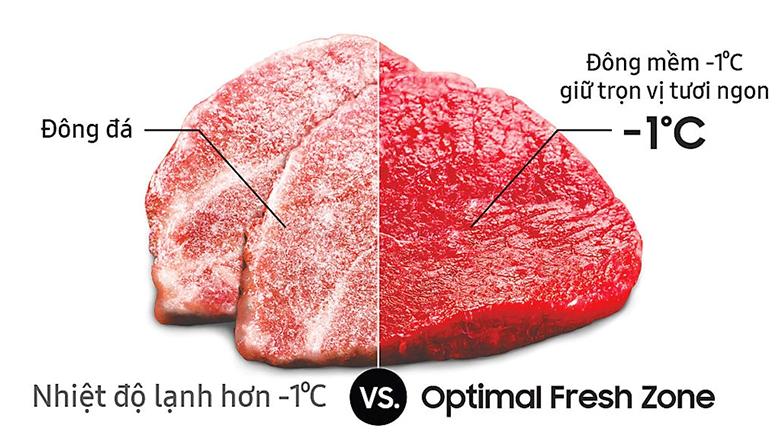 Ngăn đông mềm -1 độ C Optimal Fresh Zone