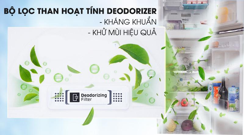 Tủ lạnh Samsung Inverter 256 lít RT25M4032BY/SV-Kháng khuẩn, khử mùi hiệu quả với bộ lọc than hoạt tính Deodorizer