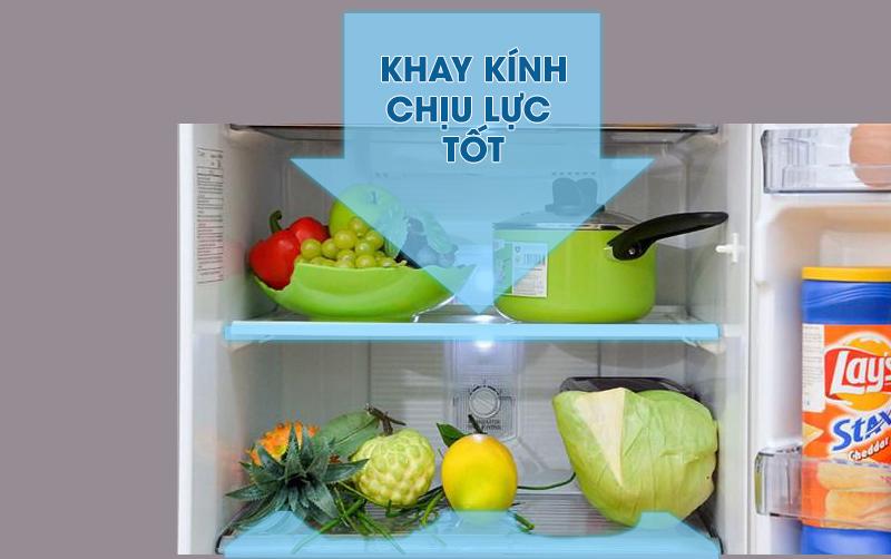 Tủ lạnh Samsung Inverter 256 lít RT25M4032BY/SV-Tiện lợi chứa đựng thực phẩm với hệ thống khay kệ chịu lực tốt
