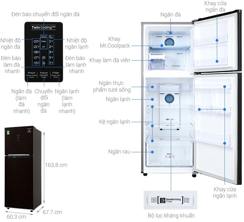 Thông số kỹ thuật Tủ lạnh Samsung Inverter 299 lít RT29K5532BY/SV