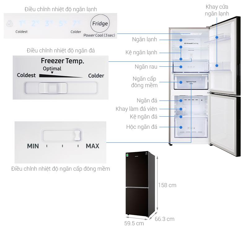 Thông số kỹ thuật Tủ lạnh Samsung Inverter 280 lít RB27N4010BY/SV