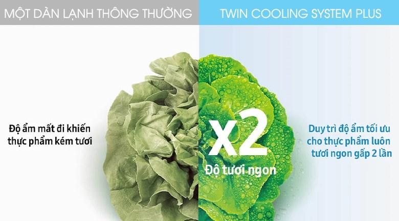 Twin Cooling System Plus - Tủ lạnh Samsung Inverter 360 lít RT35K50822C/SV